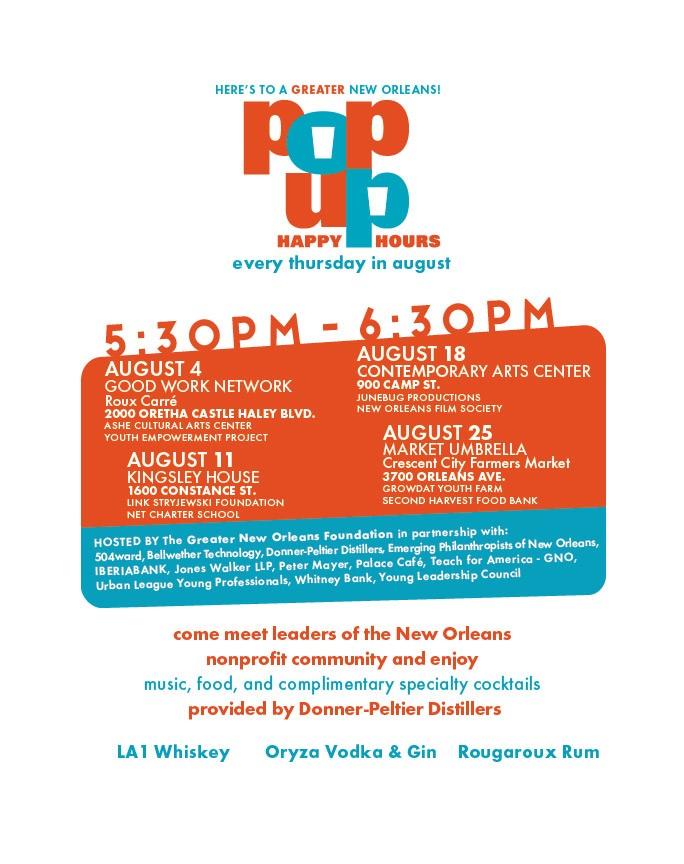 Pop Up Happy Hour Flyer